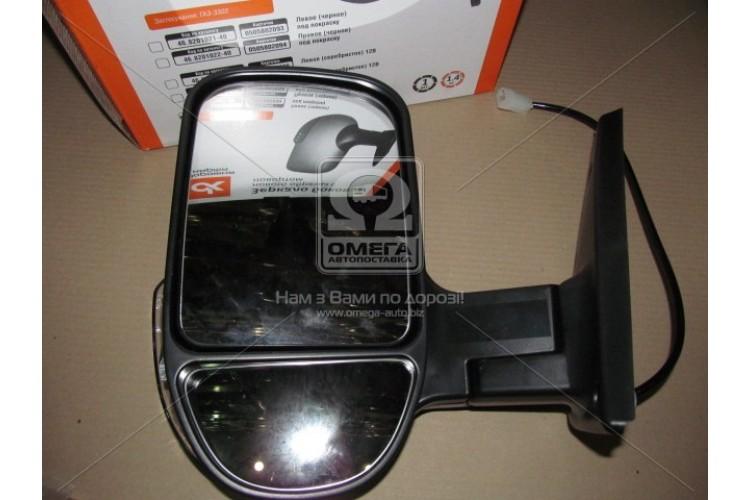 Зеркало боковое ГАЗ 3302 нового оброзца с поворотом,черное,глянец  <ДК> - 46.8201021-50 - фото 1