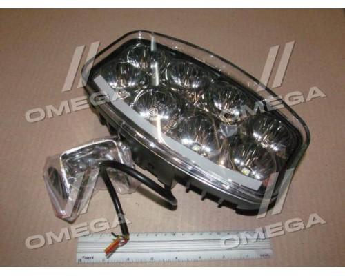 Фара LED 64Вт,8 ламп+диод.ходовые огни (DRL),245*159,2*90,7мм,гибридный луч,12/24V