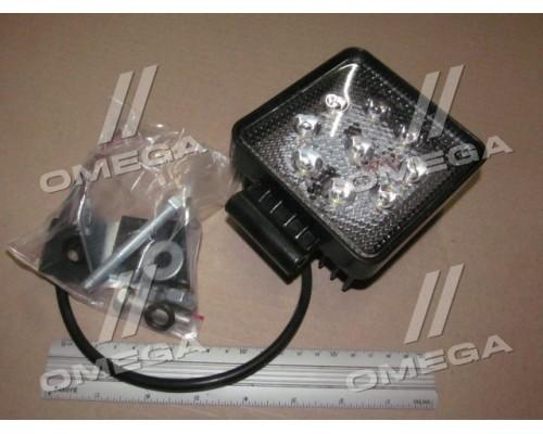 Фара LED квадратная 27W,9лампx3W,108*131*58,узкий луч 12/24V 6000K