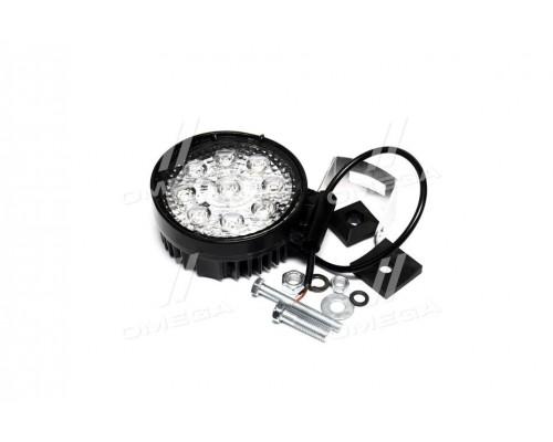 Фара LED круглая 27W,9лампx3W,113*130*52,узкий луч 12/24V 6000K