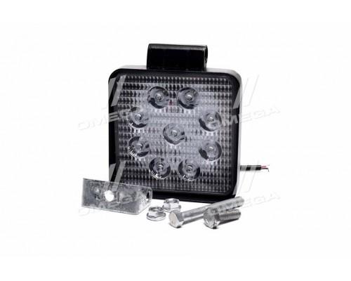 Фара LED квадратная 27W, 9 ламп, 105*105*50мм, узкий луч 12/24V (Китай)
