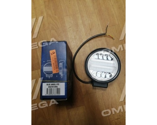 Фара LED круглая 30W,Combo,130*115*55мм,гибридный луч 12/24V,6000K (с синим глазом)