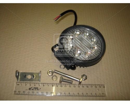 Фара LED круглая 24W,8 ламп,110*128мм,узкий луч 12/24V 6000K