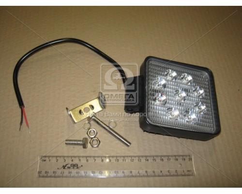 Фара LED квадратная 27W, 9 ламп, 110*110мм, широкий луч 12/24V 6000K (ТМ JUBANA)