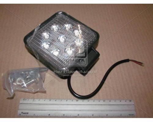 Фара LED квадратная 27W,9 ламп,105*105*25мм,широкий луч 12/24V (Китай)
