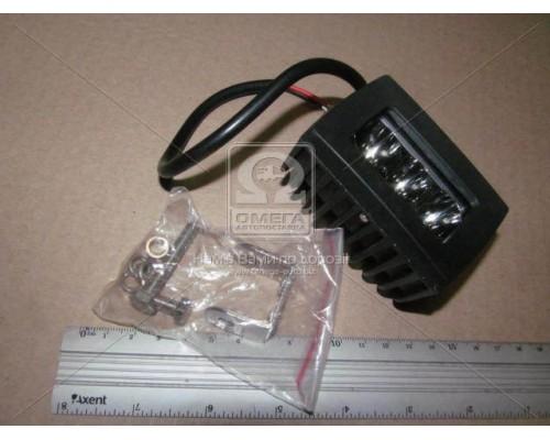 Фара LED квадратная 15W,3 лампы,80*50*45мм,узкий луч 12/24V