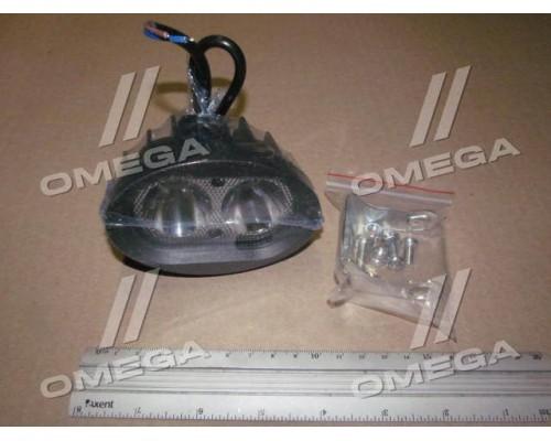 Фара LED круглая 20W,2 лампы,100*65*75мм,узкий луч 12/24V