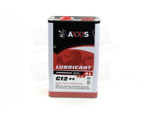 Антифриз <AXXIS> RED концентрат G12+ (-80C) (Канистра 4л)