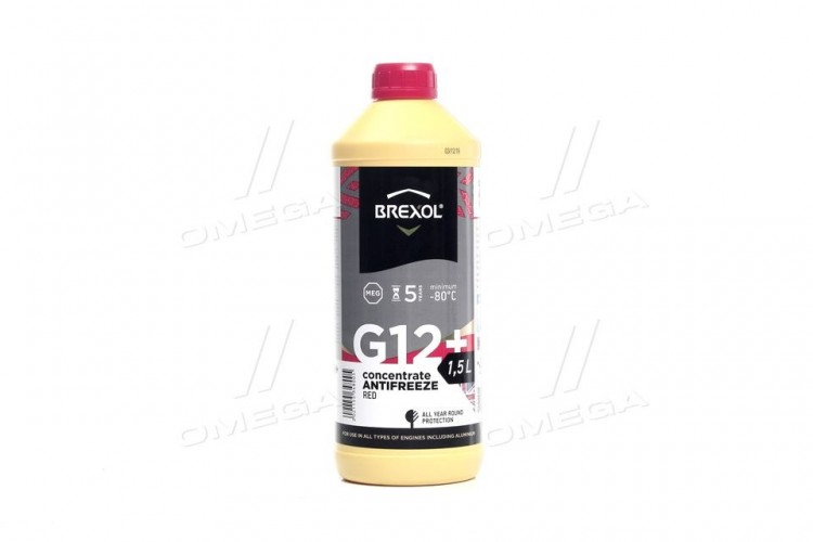 Антифриз RED CONCENTRATE G12+ (-80C) 1,5L - antf-026  - фото 1