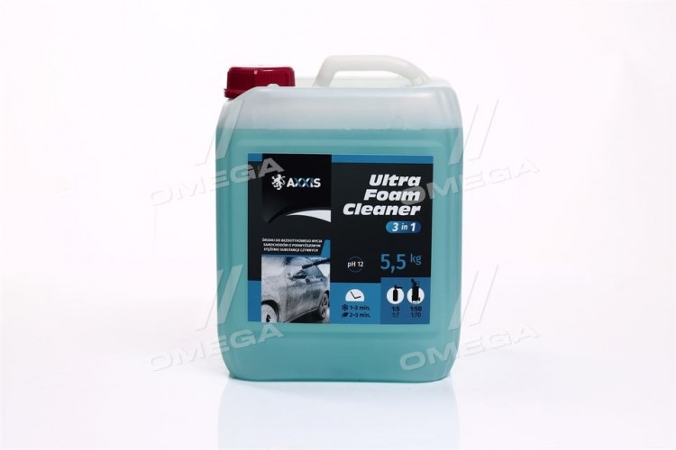 Активная пена AXXIS Ultra Foam Cleaner 3 в 1 (канистра 5л) - axx-393 - фото 1