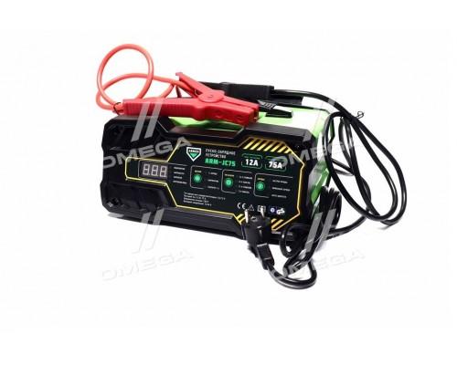 Пуско-зарядное устройство,12-24V,12A,75A/12V (старт),цифровая панель LED
