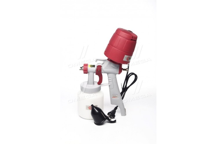 Краскопульт электрический HVLP 450 Вт, форс 1.5 мм, бачок 1л,0.14-0.35 Бар,(про-во INTERTOOL) - DT-5045 - фото 1
