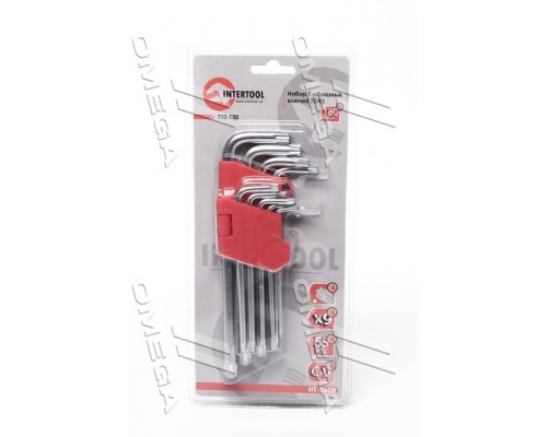 Набор Г-образных ключей TORX 9шт,Т10-Т50,Cr-V,Big про-во INTERTOOL