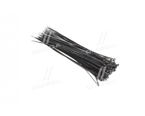 Хомут пластиковый 3,6x300мм,(100 шт/упак),черный (про-во INTERTOOL)