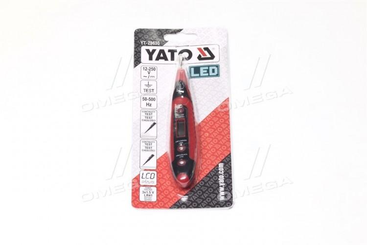 Индикатор напряжения 12-250 V контрольный LCD цифровой,шт(про-во YATO) - YT-28630 - фото 1