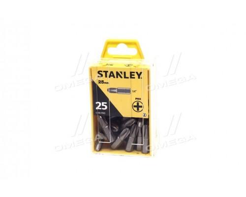 Насадка отверточная крестовая ph3 х 25 мм 25 шт про-во STANLEY