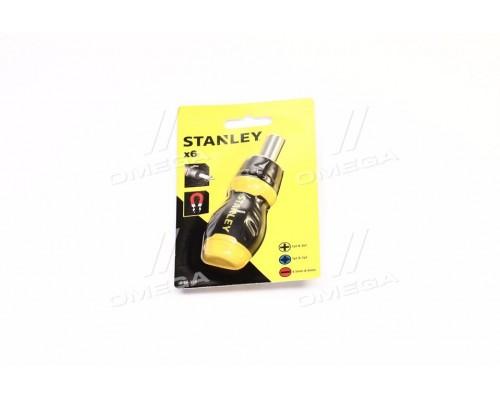 Отвертка ревевсивна: магнитный держатель,насадки 6 (про-во STANLEY)