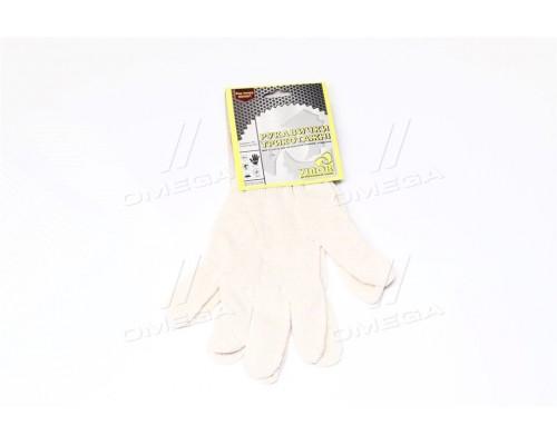 Перчатки трикотажные белые (3 нити,70 - хлопок,30 - полиэстер)