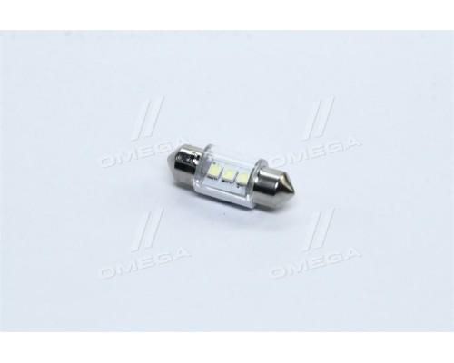 Лампа LED софитная C5W 12V T11x31-S8.5 (3 SMD size3528) WHITE <TEMPEST>