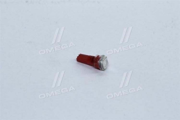 Лампа LED  б/ц панель приборов, подсветки кнопок  Т5-02 (1SMD) W2,0 х4,6d красная 12V <TEMPEST> - tmp-30T5-12V - фото 1