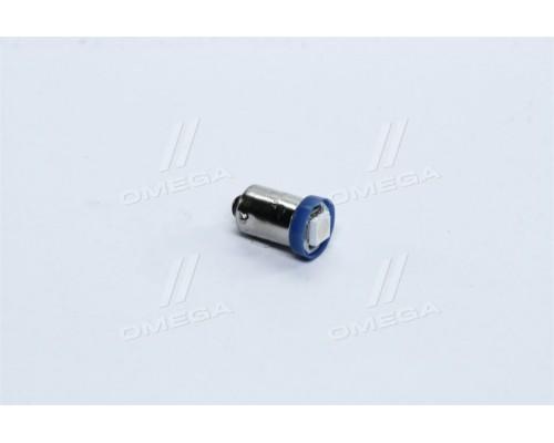 Лампа LED габарит,подсветка панели приборов T8-03 (1LED) BA9S конус синий 12V <TEMPEST>