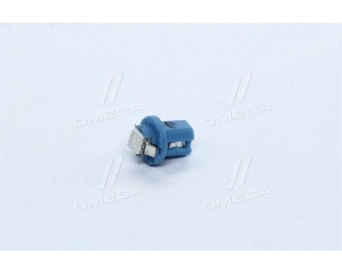 Лампа LED панели приборов,подсветкa кнопок T5B8,5d-02 (1SMD) W1.2W B8.5d голубая 24V <TEMPEST>