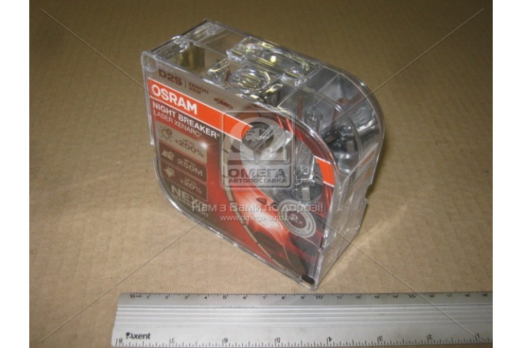 Лампа ксеноновая D2S XENARC NIGHT BREAKER LASER 85В,35Вт,PK32d-2 (+200) комплект. - 66240XNL-HCB - фото 1