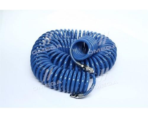 Шланг спиральный полиуретановый 6.5*10мм, 20м с быстроразъемными соединениями (про-во INTERTOOL)