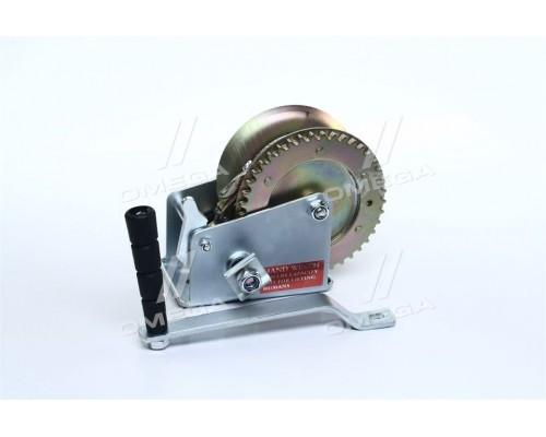 Лебедка рычажная барабанная стальной трос тяговое усилие 450 кг (про-во INTERTOOL)