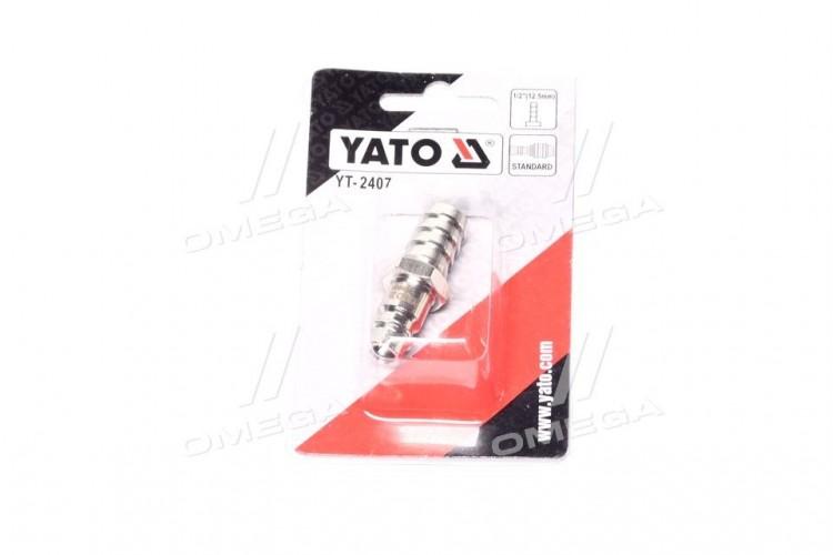 Быстросъемный переходник к шлангу o = 12.5 мм(про-во YATO ) - YT-2407 - фото 1