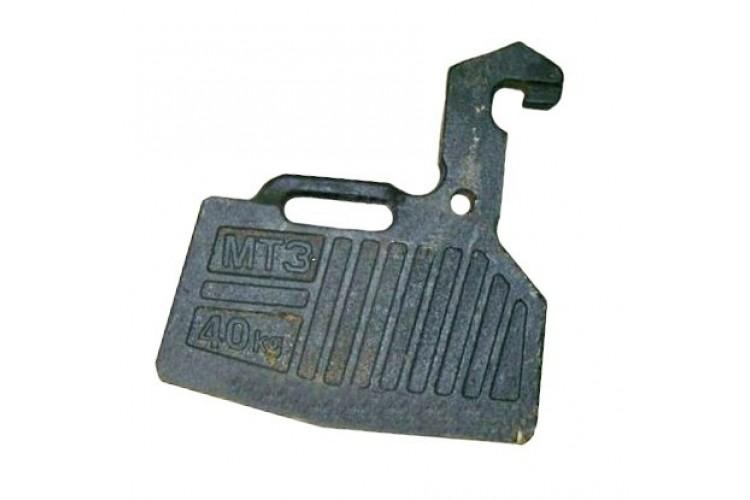 Груз передний (противовес) МТЗ-1221 внутренний - 1521-4235011-А - фото 1