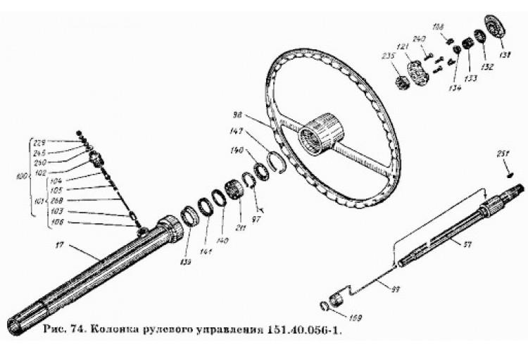 Колонка рулевого управления ХТЗ - 151.40.056-1 - фото 1
