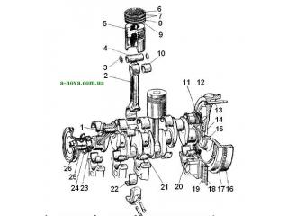 Регулировка и обслуживание кривошипно-шатунного механизма двигателя Д-65 ЮМЗ