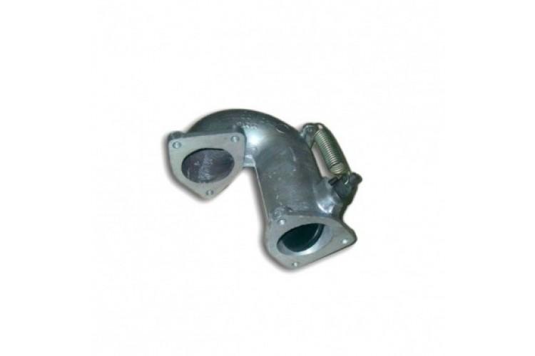 Патрубок переходной впускного коллектора МТЗ (с заслонкой) - 240-1003220-В - фото 1